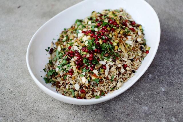 lucky spring rice by seven spoons • almonds, pistachios, cilantro ...