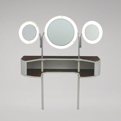 Beautiful dressing table by Poul Henningsen,1939; Made by Louis Poulsen. Chrome-plated metal, wood