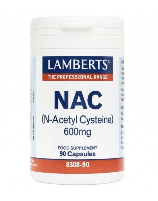 LAMBERTS NAC N-ACETYL CYSTEINE 600MG 90CAPS