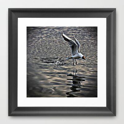 Splash Landing Framed Art Print by AngelEowyn - $34.00