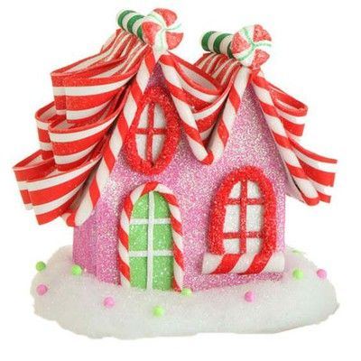 "8"" RAZ Candy House Pink Red Green"