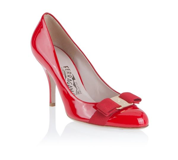 Shiny red pumps from Salvatore Ferragamo - beautiful!