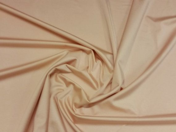 Nude  Plain Lycra Spandex Stretch Fabric by AinsberryFabric