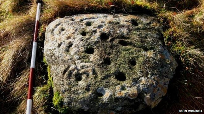 Rock with cup and ring markings