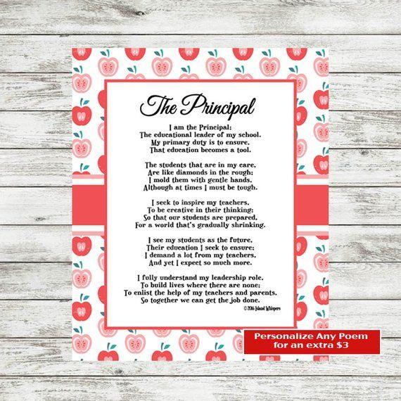 Principal Print Principal Gift Principal Appreciation Principal Poem Principal Valentine S Gift Inst Principal Appreciation Principal Gifts Principal Poem
