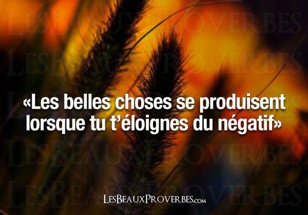 Les Beaux Proverbes – Proverbes, citations et pensées positives » » Les belles choses
