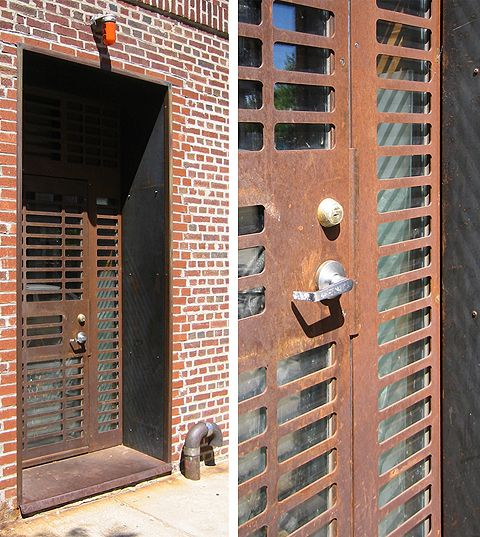 Laser Cut Corten Steel Door By Face Design + Fabrication