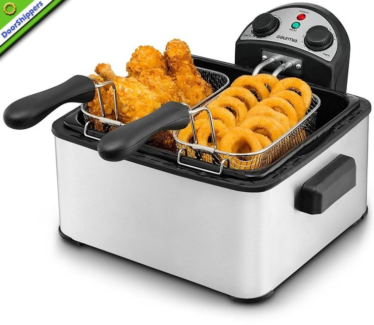 Gourmia GDF450 Compact Electric Deep Fryer 3 Baskets Dual Thermostat Timer... #NA