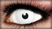 White Zombie Color Contacts Halloween Contacts FX SFX Special Effects Makeup Eyes