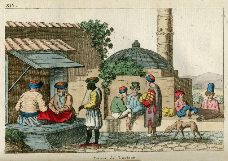 Το παζάρι της Λάρισας. - BARTHOLDY, Jakob Ludwig Salomo - ME TO BΛΕΜΜΑ ΤΩΝ ΠΕΡΙΗΓΗΤΩΝ - Τόποι - Μνημεία - Άνθρωποι - Νοτιοανατολική Ευρώπη - Ανατολική Μεσόγειος - Ελλάδα - Μικρά Ασία - Νότιος Ιταλία, 15ος - 20ός αιώνας