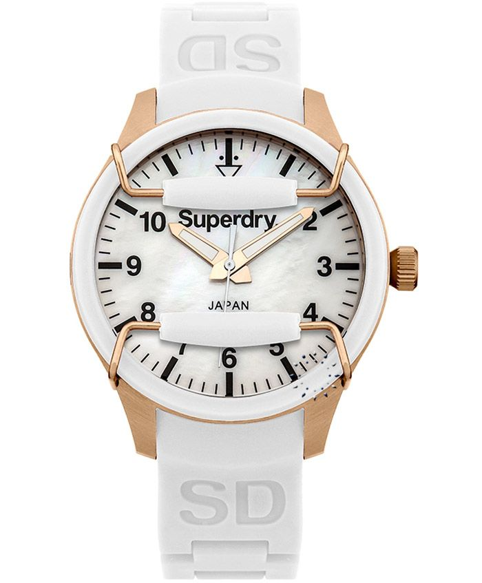 SUPERDRY Ladies Scuba White Rubber Strap Τιμή: 109€ http://www.oroloi.gr/product_info.php?products_id=37029