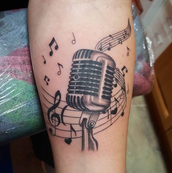 50 bewundernswerte Musik Tattoos für Männer und Frauen – Tattoo männer