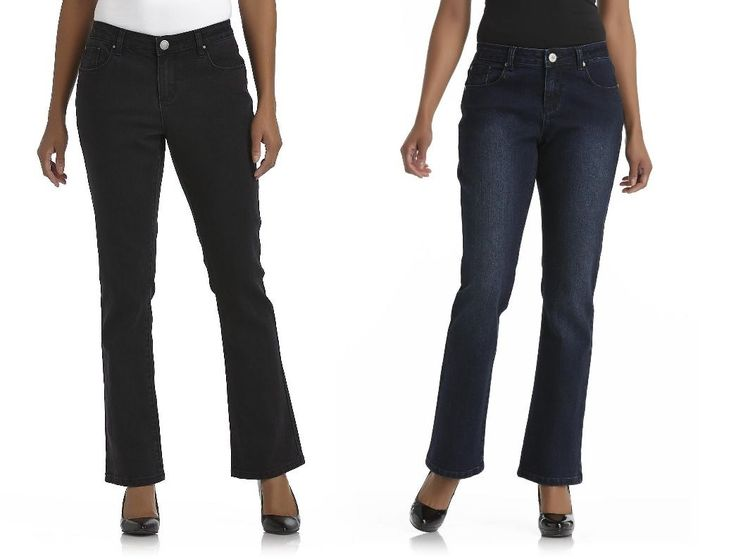 Canyon River Womens Petite Jeans Curvy Boot Cut Mid Rise Size 8P 12P 14P