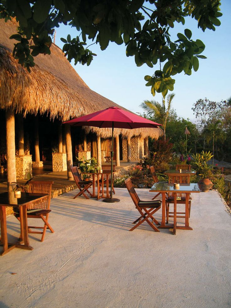Sumba Nautil Resort is situated on a sloping hill, providing the seven cottages and shared-facilities villa with spectacular views of the Indian Ocean and pompous cliffs.
