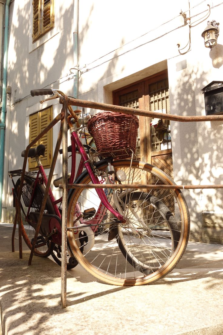 Muggia, Italy, trip from Piran. Things to do in slovenia. Bicycle classic