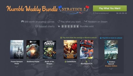 Get up to $99 Worth of Strategy Games With This Weeks Humble Weekly Bundle