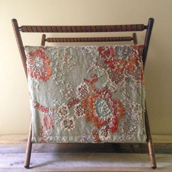 Vintage Folding Knitting Basket : Large vintage folding knitting basket baskets