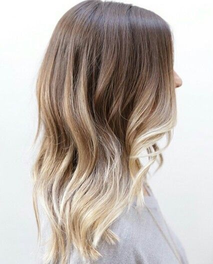 what brown to blonde ombre should look like