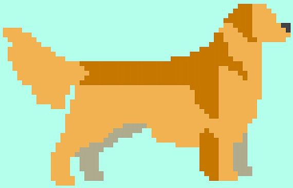 Golden Retriever Cross Stitch Pattern Instant by RagingStitches, $4.00