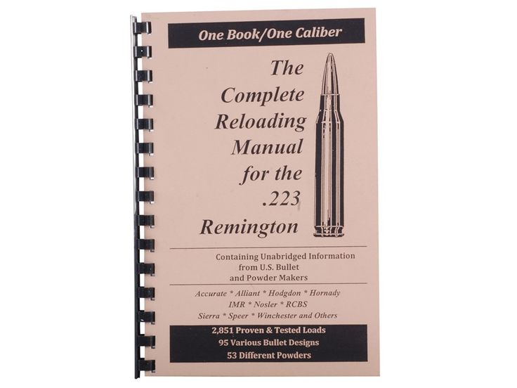 "Product detail of Loadbooks USA ""223 Remington"" Reloading Manual"