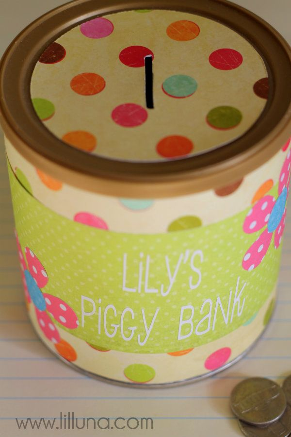 DIY Piggy Bank Tutorial made from an old formula can. Talk about tithing and then make 'Tithing Banks'. This would be a great craft for Activity Days.
