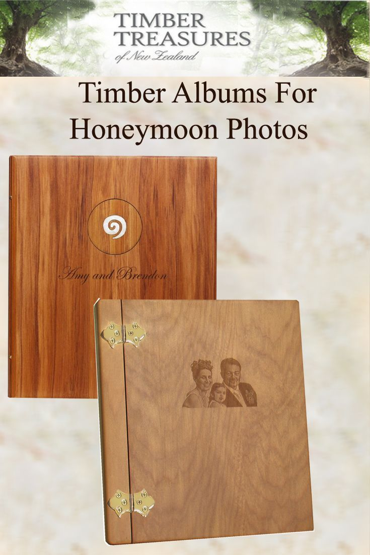Honeymoon Photo albums Keep a record of honeymoon destinations with the first photos as a married couple. Each  album is as unique as your memories Come and see us we're only a click away.