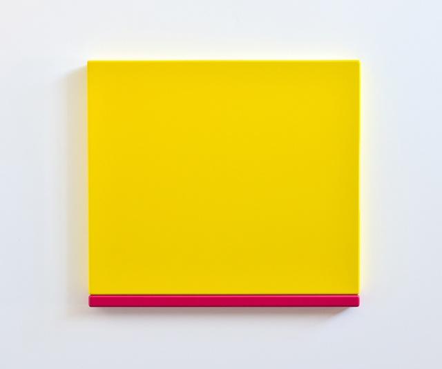 Yellow Pink 2012 MDF, Polyurethane 61 x 67 x 5 cm