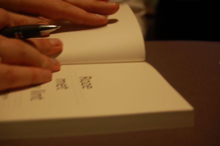 Boeken signeren