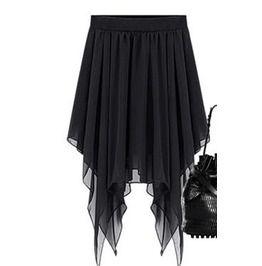 Chiffon Black Fish Tail Skirt