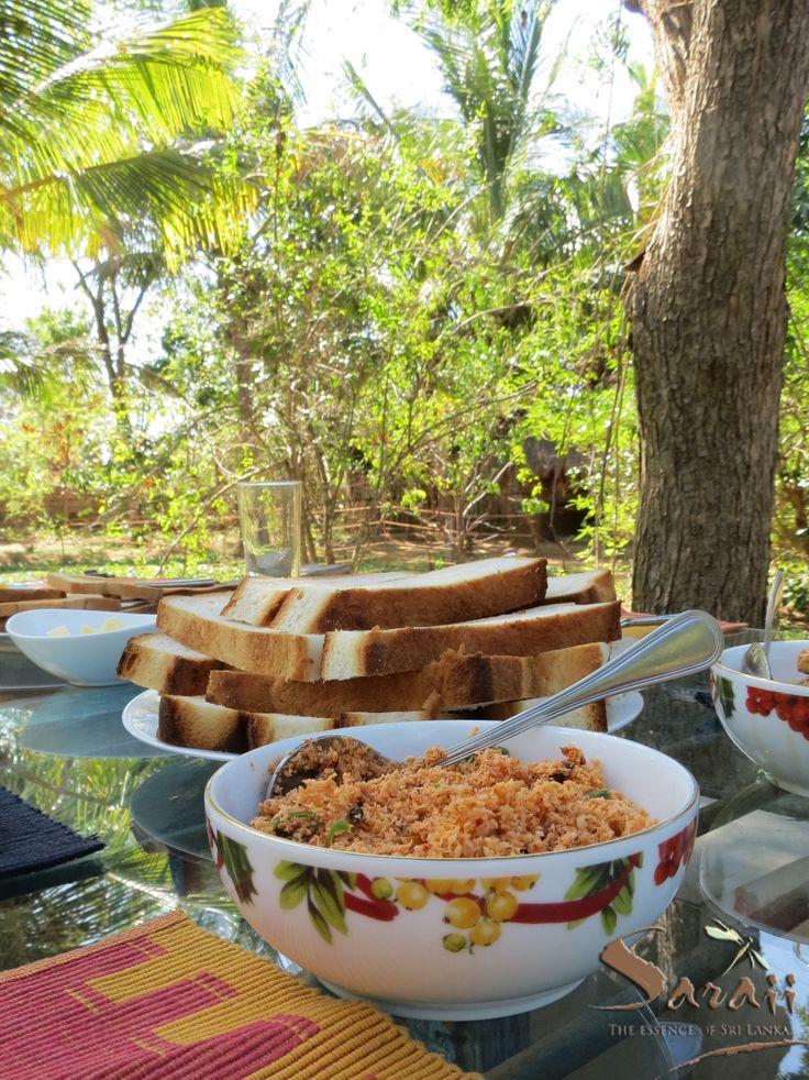 Roast Paan and Pol Sambol for a garden breakfast.