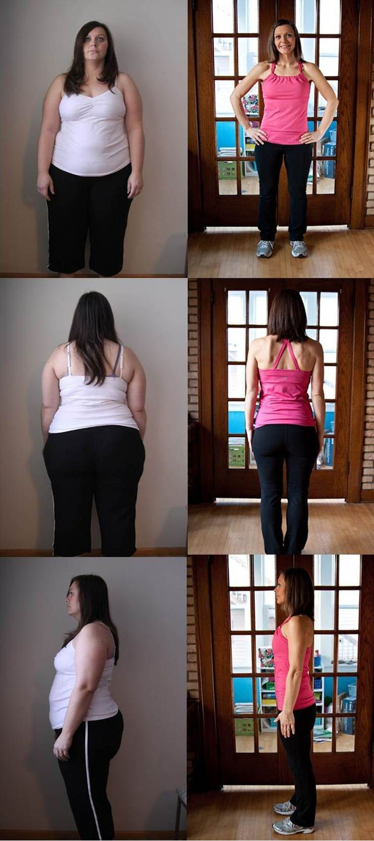 she was 260 lbs - now she is 135 lbs great inspiration