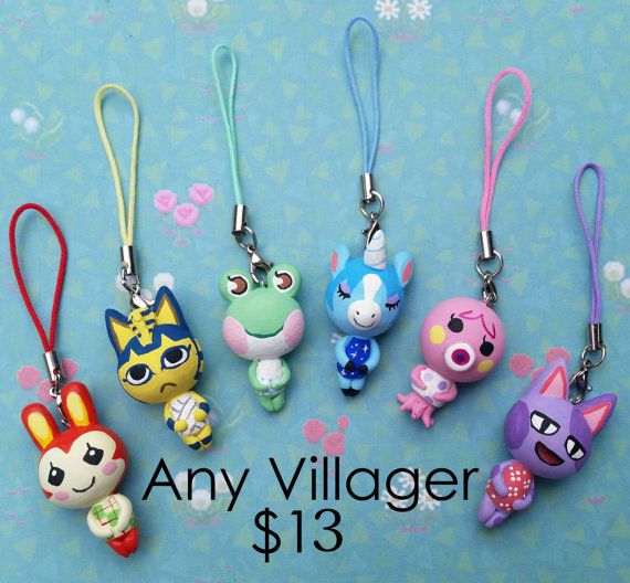 Any Animal Crossing Character charm on a cell phone by shoplolipop
