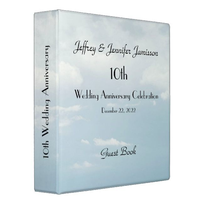 10th Wedding Anniversary Guest Book Pale Sky Binder Album Memory Book Guest Weddin 60 Wedding Anniversary Wedding Tree Guest Book 40th Wedding Anniversary