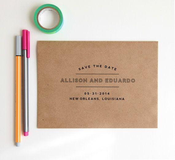 NEW Save the Date Stamp Custom Wedding par HunterandCoDesigns