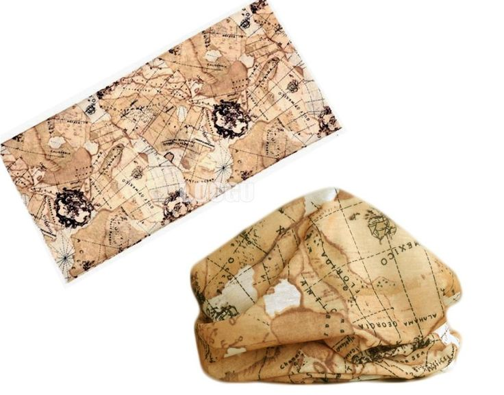 [Visit to Buy] Map Style Polyester Scarves Outdoor Sports Bandana Scarf Camping Cycling Headwear Hiking Washouts Magic Hunting Headwear Scarves #Advertisement