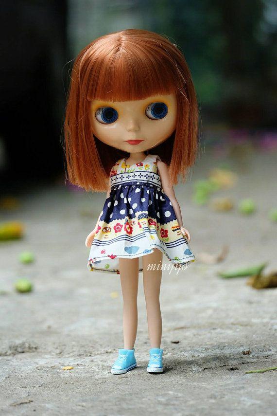 Neo Blythe Simply Dress Type A by MINIJIJO on Etsy