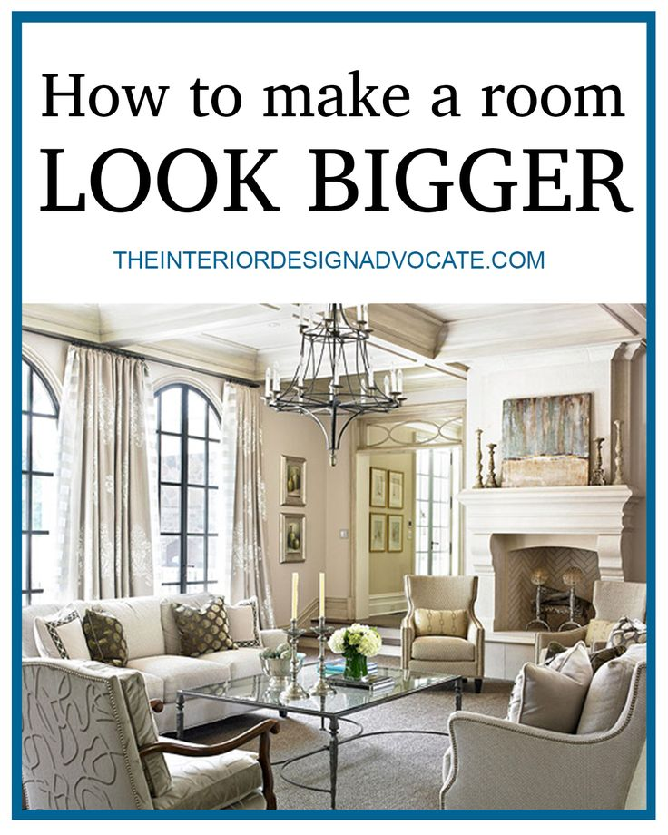 Trying to add major style to a small space? Check out these simple tips on how to make any room look bigger!   The Interior Design Advocate