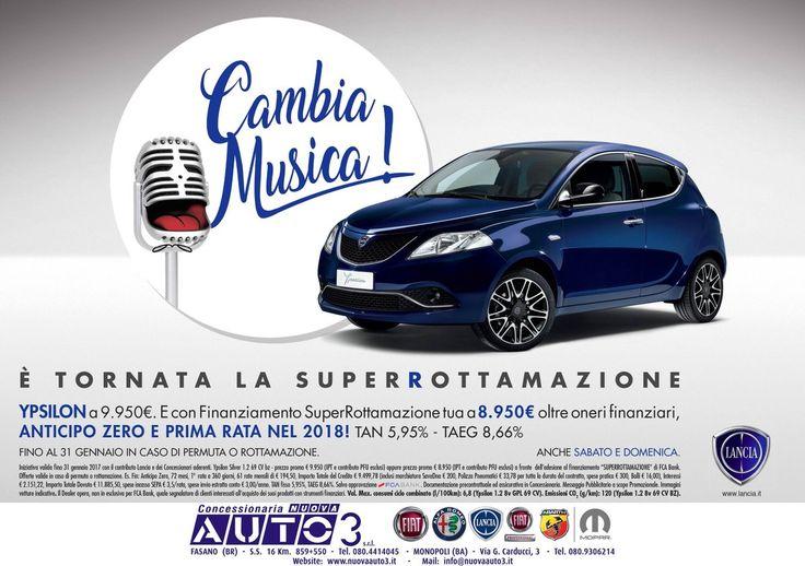 CAMBIA MUSICA! E' TORNATA LA SUPERROTTAMAZIONE!  http://www.nuovaauto3-fcagroup.it/lancia/promozioni#86240