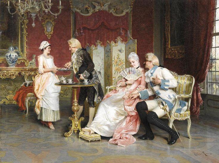 Arturo Ricci : Italian, 1854 – 1919. Romantic Art   The Curious Raven