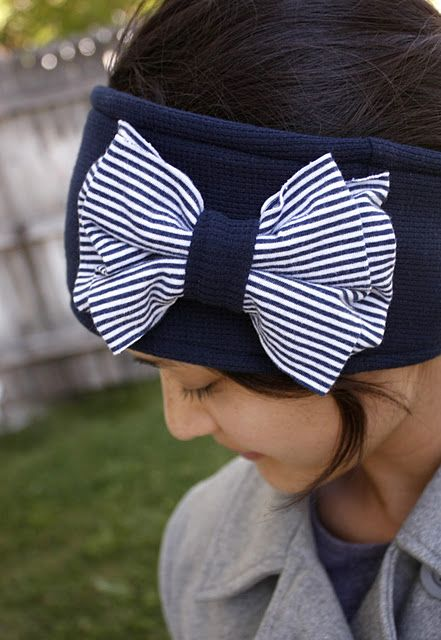 How to make Adorable DIY Ear Warmers (with bow!) | Prudent Baby