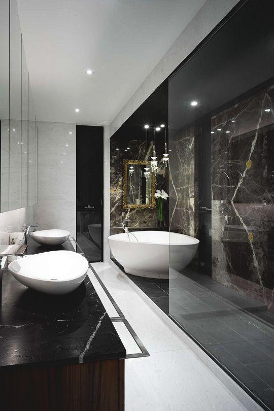 Black Luxury Modern Bathroom best 25+ black marble bathroom ideas on pinterest | framed shower