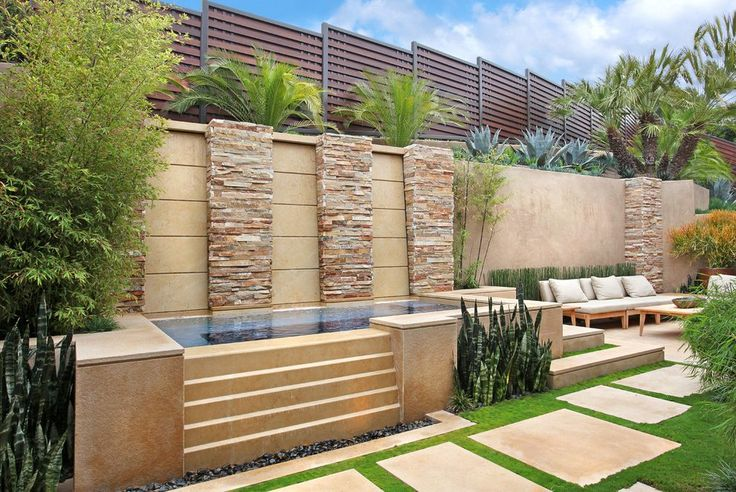 stacked stone column ideas pool southwestern with bushes mediterranean  mosaic tiles
