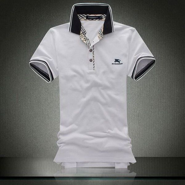 burrbery outlet qbu1  ralph lauren outlet store Burberry Pique Cotton Collar Short Sleeve Men's  Polo Shirt White http: