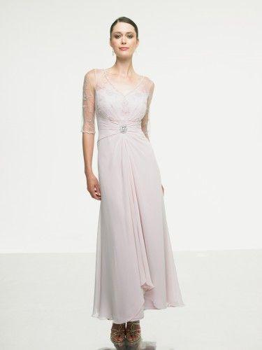 Chiffon V-Neckline Natural waist Floor-Length A-line Bridesmaid Dress