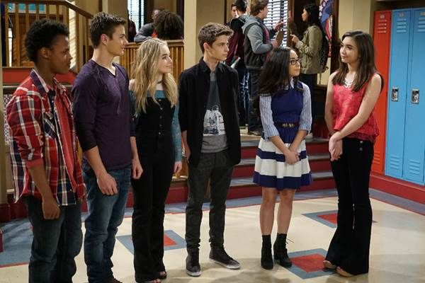 I love how there all staring at Riley