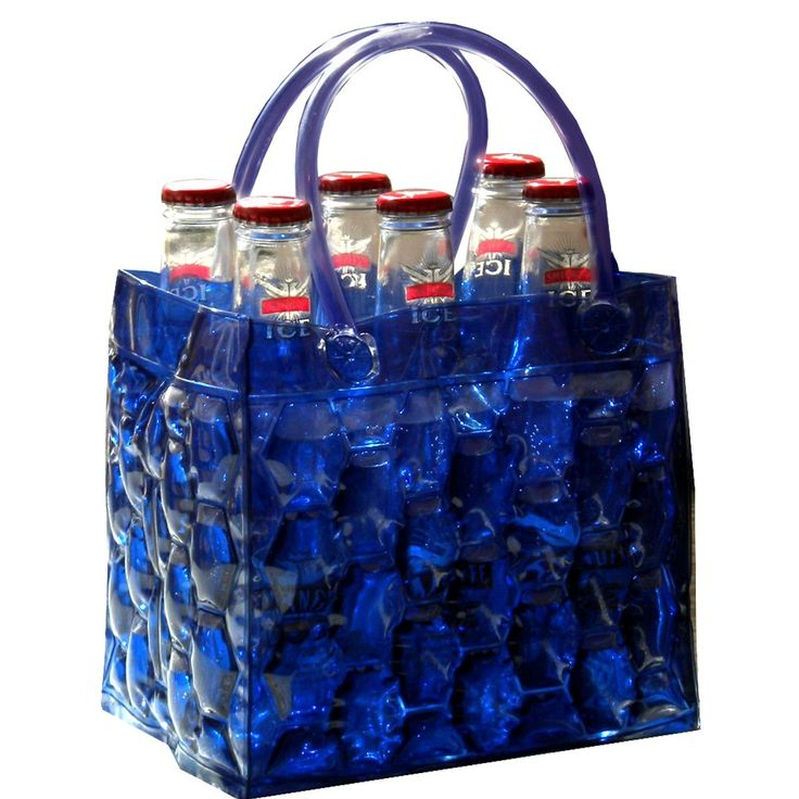 Midnight 6 Pack Freezer Bottle Bag 6 Pack Bag Chill Bag Beer Cooler