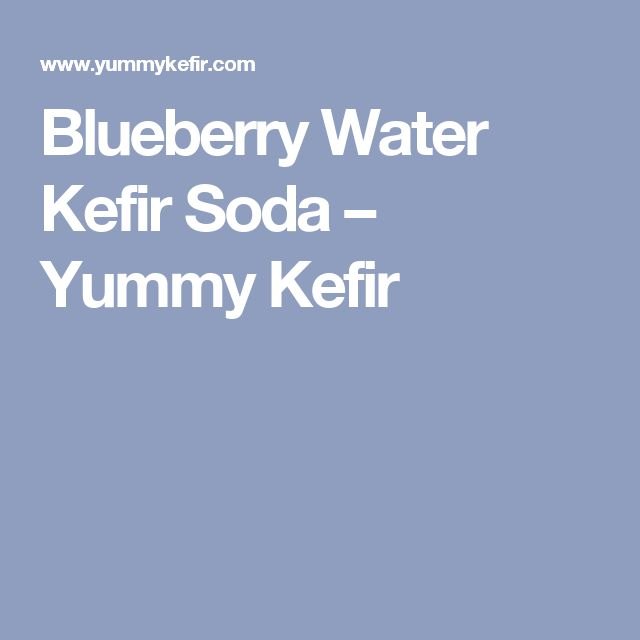 Blueberry Water Kefir Soda – Yummy Kefir