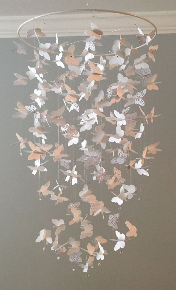 Butterfly Chandelier  Mobile mostly solid by DragonOnTheFly