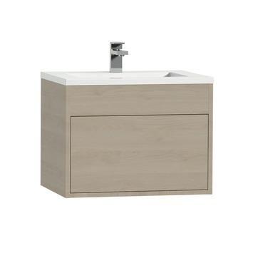 Tiger Helsinki badkamermeubel 60 cm naturel eiken met wastafel polybeton hoogglans wit kopen? Verfraai je huis & tuin met Badkamermeubelen van KARWEI