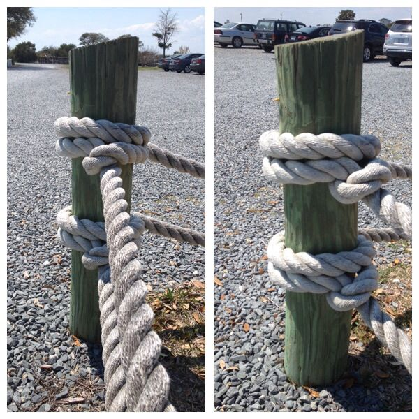 13 best rope fences images on pinterest rope fence for Garden decking with rope